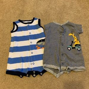 Set of Carter's one piece outfits